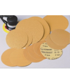 "6"" 180G VELCRO DISCS GOLD 50/BOX"